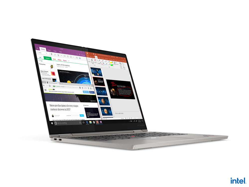"Laptop Lenovo ThinkPad X1 Titanium Yoga Gen 1, 13.5"" QHD (2256x1504) IPS 450nits AR (anti-reflection) / AS (anti-smudge), Touch, Intel Core i7- 1160G7 (4C / 8T, 2.1 / 4.4GHz, 12MB), Video Integrated Intel Iris Xe Graphics, RAM 16GB Soldered LPDDR4x-4266, POP Memory, SSD 1TB SSD M.2 2242 PCIe 3.0x4 - imaginea 20"