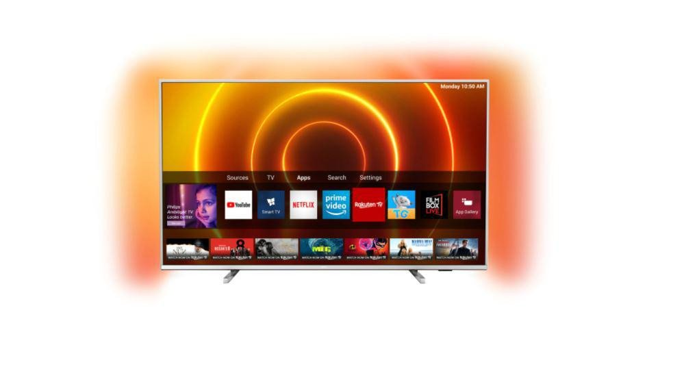 Televizor Philips 65PUS7855/12, 164 cm, Smart, 4K Ultra HD, LED, HDR, Saphi, YouTube, Netflix, Asistent vocal inteligent, Screen Mirroring, Inregistrare USB, Android, iOS, Quad core, 3840 x 2160, HLG, Dolby Vision, HDR 10+, P5 Perfect Picture Engine, Ultra Resolution, Dolby Vision, HDR 10+, HLG - imaginea 1