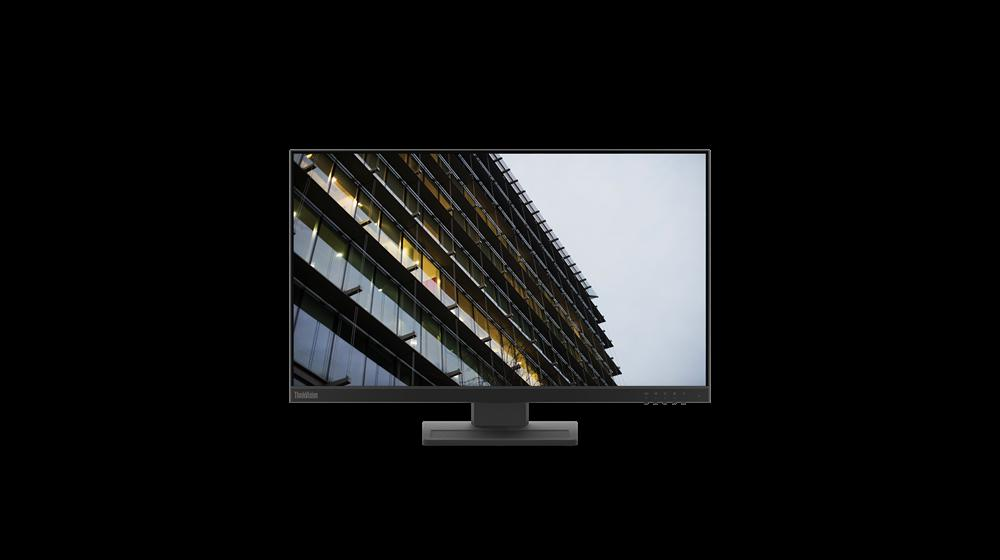"""Monitor Lenovo ThinkVision E24-2023.8"""" IPS, FHD (1920x1080), 16:9 ,Luminozitate: 250 nits, Contrast ratio: 1000:1, Response time: 14ms, Dot/ Pixel Per Inch: 92 dpi, Color Gamut: 72% NTSC, View angle: 178 / 178,Stand: Tilt, Pivot, Height Adjust Stand, Side Bezel Wid th: 3.1 mm,Dimensiune (cu stand) - imaginea 1"""