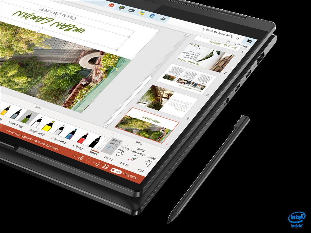 "Laptop Lenovo Yoga 9 14ITL5, 14"" UHD (3840x2160) IPS 500nits Glossy, Glass, 90% DCI-P3, VESA HDR 400, 10-point Multi-touch, Intel Core i7- 1185G7 (4C / 8T, 3.0 / 4.8GHz, 12MB), video Integrated Intel Iris Xe Graphics, RAM 16GB Soldered LPDDR4x-4266, SSD 1TB SSD M.2 2280 PCIe 3.0x4 NVMe, no ODD, No - imaginea 6"