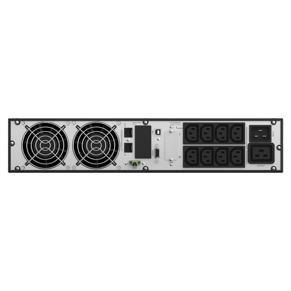 UPS nJoy Balder 3000, 3000VA/ 3000W, On-line, LCD Display, Montare Rack/Tower, 8 Prize IEC 13 1x IEC C19, Dubla conversie, Plaja larga de tensiuni acceptate, Eficienta impresionanta de pana la 96%, Frecventa: 40Hz ~ 70 Hz, Dimensiuni: 630 x 438 x 88 mm, Greutate: 27.5 kg - imaginea 6