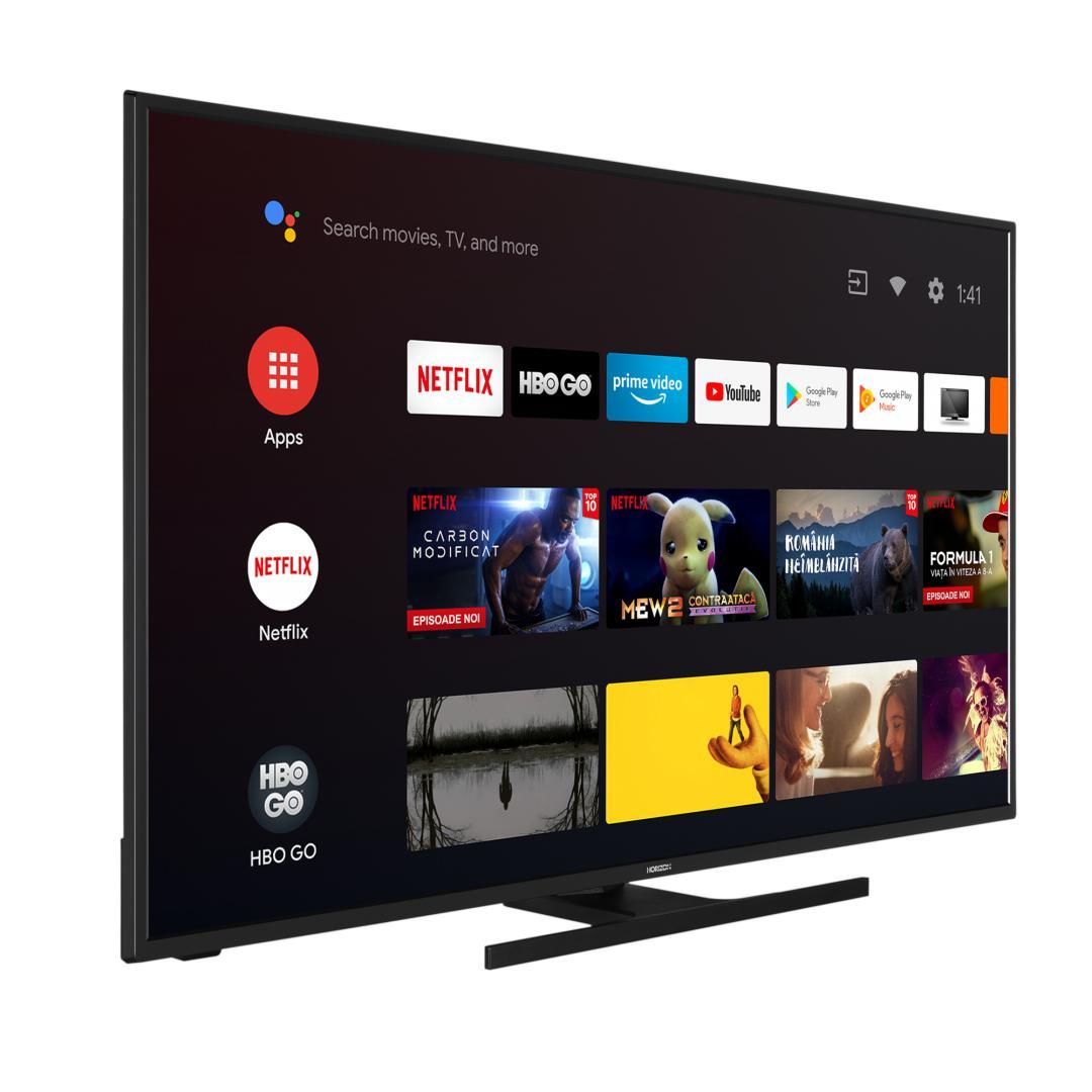 "LED TV HORIZON 4K-ANDROID 43HL7590U/B, 43"" D-LED, 4K Ultra HD (2160p), DolbyVision HDR / HLG + MicroDimming, Digital TV-Tuner DVB-S2/T2/C, CME 400Hz, Android TV 9.0 (Chromecast built-in) +GoogleAssistant +BT4.0, 1xLAN (RJ45), DLNA 1.5, Contrast 5000:1, 350 cd/m2, 1xCI+, 4xHDMI, 2xUSB, Dolby Audio - imaginea 3"