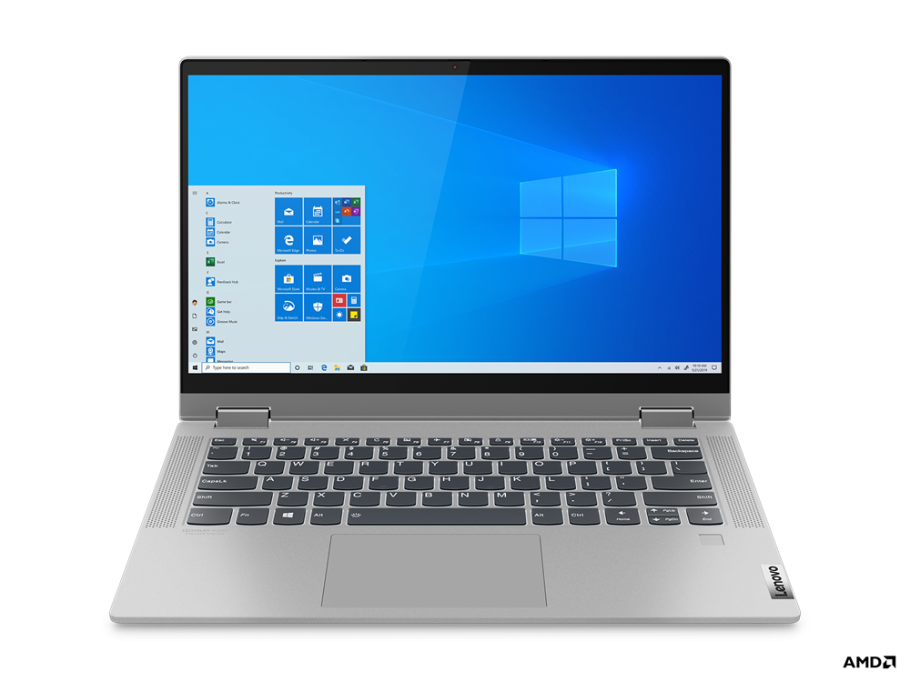 "Laptop Lenovo IdeaPad Flex 514ALC05, 14"" FHD (1920x1080) IPS 250nits Glossy, 45% NTSC, AMD Ryzen 3 5300U (4C / 8T, 2.6 / 3.8GHz, 2MB L2 / 4MB L3), video AMD Radeon Graphics, RAM 8GB Soldered DDR4-3200, SSD 256GB SSD M.2 2242 PCIe 3.0x4 NVMe, no ODD, 4-in-1 Card Reader, Stereo speakers, 2W x2, Dolby - imaginea 18"
