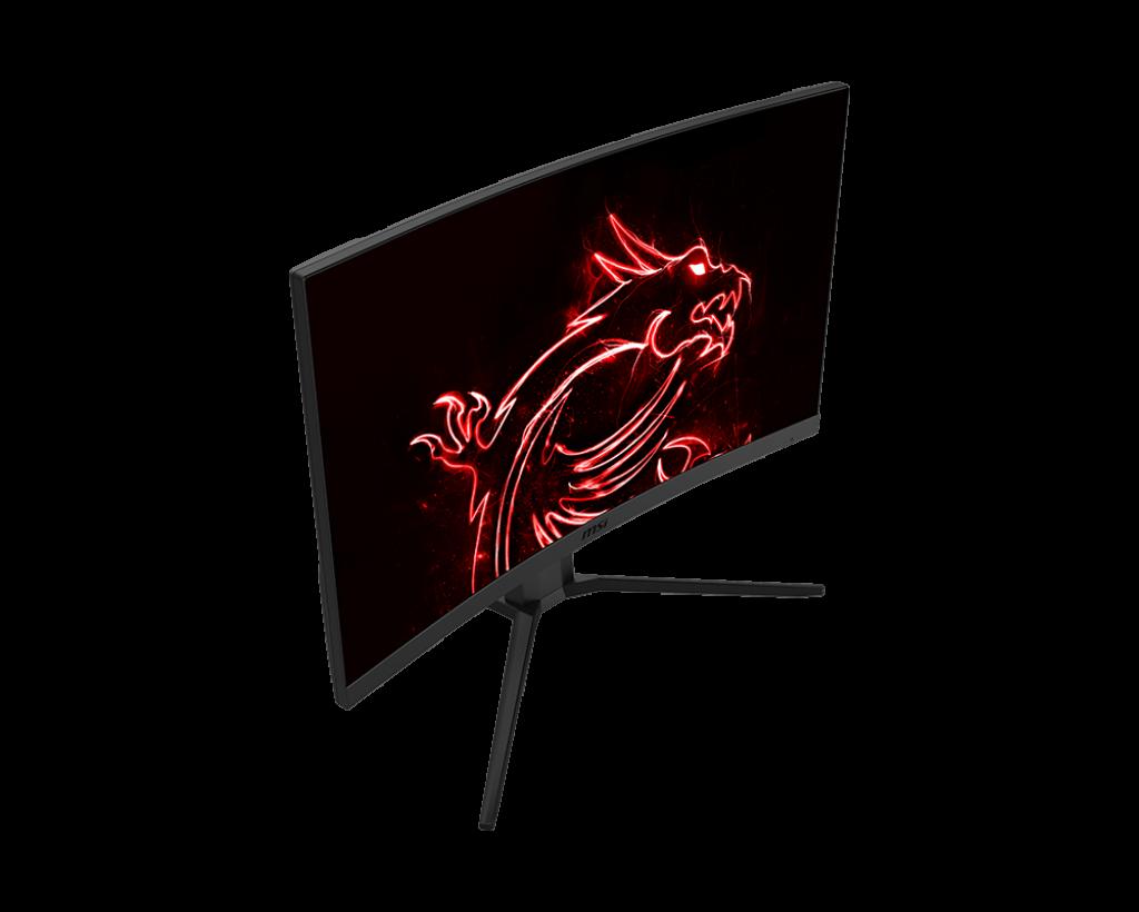 "Monitor Gaming 27"" MSI Optix G27CQ4P, Curved, LED, Panel Type VA, WQHD 2560 x 1440, 165Hz, 16:9, Anti-glare, Display colors 16.7M, FreeSync Premium, Frameless design, Curvature 1500R, 1ms (MPRT), 250 cd/m², 3000:1 static / 100000000:1 dinamic, 178° (H) / 178° (V), Porturi: 1x Display Port (1.2), 2x - imaginea 2"