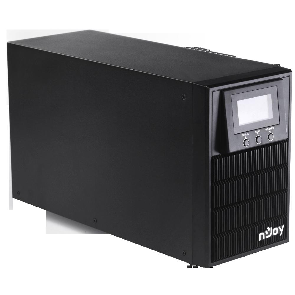 UPS nJoy Aten PRO 1000, 1000VA/800W, On-line (double convension UPS), LCD Display, 3 Prize Schuko cu Protectie, Tower, Smart SNMP & USB & RS- 232, Efficiency up to 88%, Software management - imaginea 5