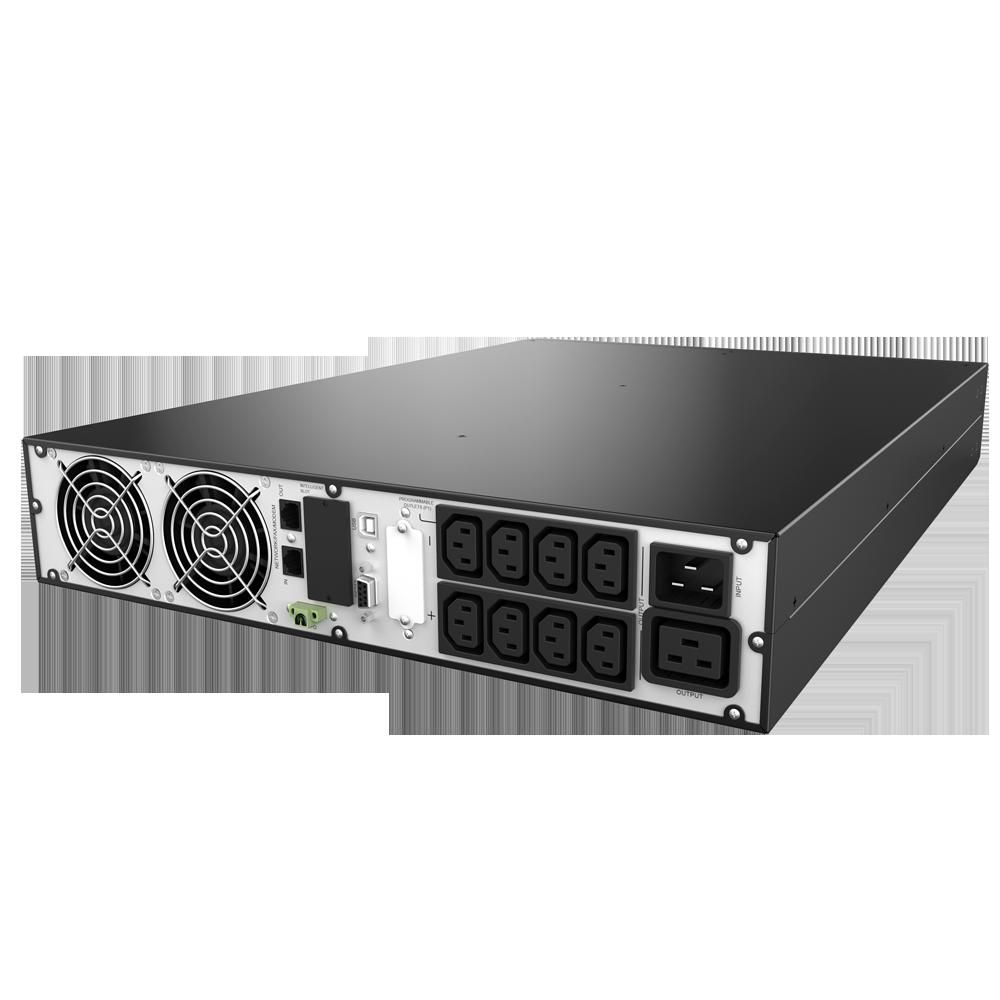 UPS nJoy Balder 3000, 3000VA/ 3000W, On-line, LCD Display, Montare Rack/Tower, 8 Prize IEC 13 1x IEC C19, Dubla conversie, Plaja larga de tensiuni acceptate, Eficienta impresionanta de pana la 96%, Frecventa: 40Hz ~ 70 Hz, Dimensiuni: 630 x 438 x 88 mm, Greutate: 27.5 kg - imaginea 5