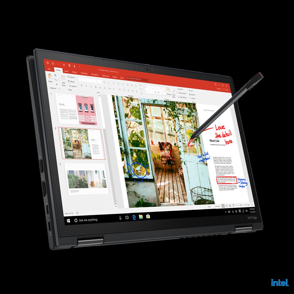 "Laptop Lenovo ThinkPad X13 Yoga Gen 2 (Intel), 13.3"" WQXGA (2560x1600) Low Power IPS 400nits AR (anti-reflection) / AS (anti-smudge), Touch, Lenovo Integrated Pen (Garaged), Intel Core i7-1165G7 (4C / 8T, 2.8 / 4.7GHz, 12MB), Video Integrated Intel Iris Xe Graphics, RAM 16GB Soldered LPDDR4x-4266 - imaginea 10"