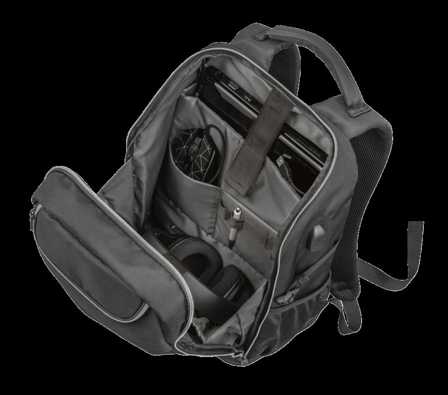 """Rucsac Trust GXT 1255 Outlaw Gaming Backpack 15.6"""" Black - imaginea 6"""
