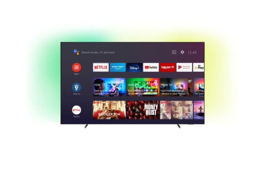 Televizor OLED Philips 65OLED705/12, 164 cm, Smart Android, 4K Ultra HD, OLED, clasa G, HDR, Android 9.0 Pie, YouTube, Netflix, HBOGo, Comenzi vocale, Asistent vocal inteligent, Screen Mirroring, Ambilight, Inregistrare USB, iOS, Android, Google assistant, Quad core, 16 GB, 3840 x 2160, HDR 10+ - imaginea 1