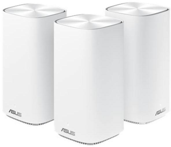 Asus dual-band whole home Mesh ZENwifi system, CD6 3 pack; white, AC1500, Network Standard-IEEE 802.11a, IEEE 802.11b, IEEE 802.11g, IEEE 802.11n, IEEE 802.11ac, IPv4, IPv6, 2.4 GHz 4 x 4, 5 GHz 2 x 2, Processor-QCN5502, Memory- 32 MB Flash, 128 MB RAM. - imaginea 1
