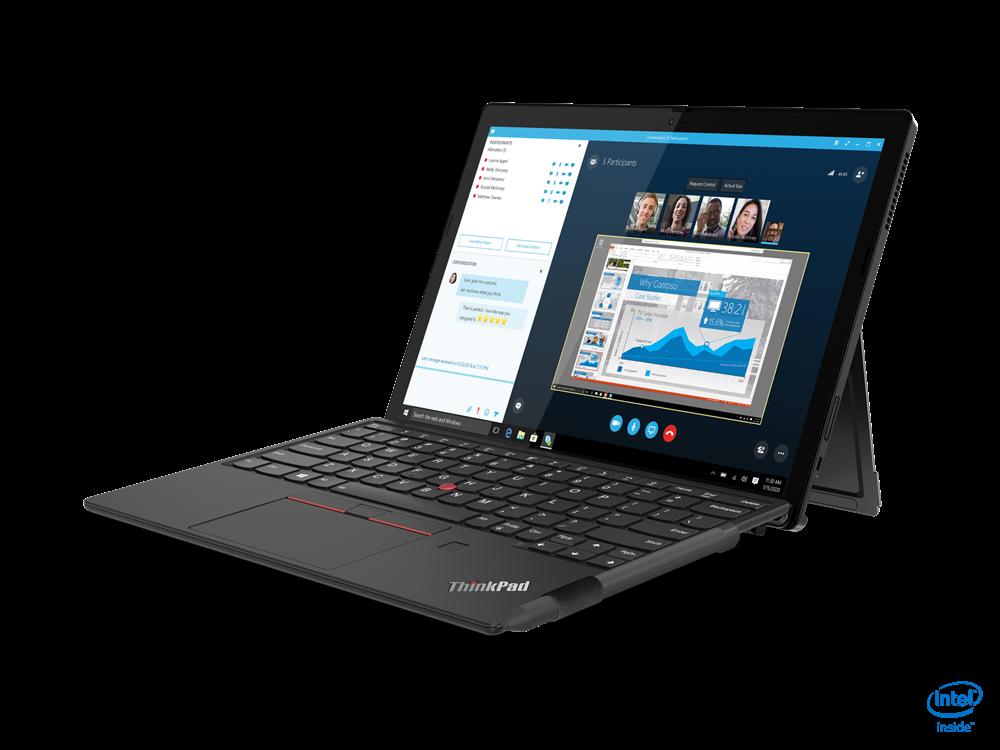 "Laptop Lenovo ThinkPad X12 Detachable, 12.3"" FHD (1920x1280) IPS 400nits AR (anti-reflection) / AS (anti-smudge), Intel Core i5-1130G7 (4C / 8T, 1.8 / 4.0GHz, 8MB), Video Integrated Intel Iris Xe Graphics, RAM 16GB Soldered LPDDR4x-4266, SSD 512GB SSD M.2 2242 PCIe 3.0x4 NVMe, Optical: no ODD, No - imaginea 3"