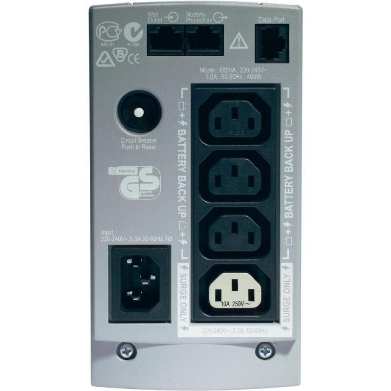 UPS APC Back-UPS CS stand-by 650VA / 400W 4 conectori C13, baterieRBC17, optional extindere garantie cu 1/3 ani (WBEXTWAR1YR-SP-01/W BEXTWAR3YR-SP-01) - imaginea 2