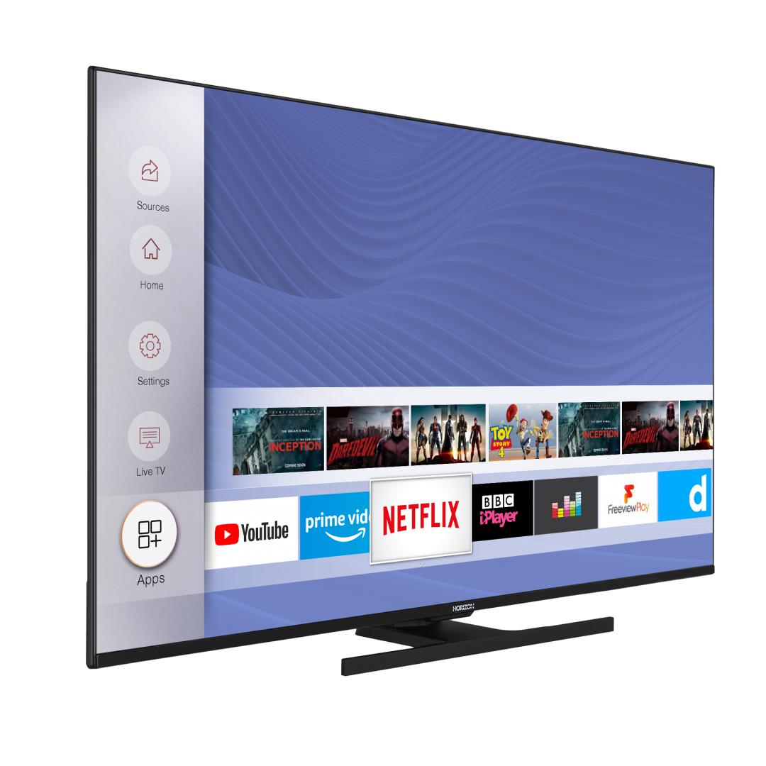 "LED TV HORIZON 4K-SMART 50HL8530U/B, 50"" D-LED, 4K Ultra HD (2160p), HDR10 / HLG + MicroDimming, Digital TV-Tuner DVB-S2/T2/C, CME 400Hz, HOS 3.0 SmartTV-UI (WiFi built-in) +Netflix +AmazonAlexa +Youtube, 1xLAN (RJ45), Wireless Display, DLNA 1.5, Contrast 5000:1, 350 cd/m2, 1xCI+, 3xHDMI, 1xUSB - imaginea 3"