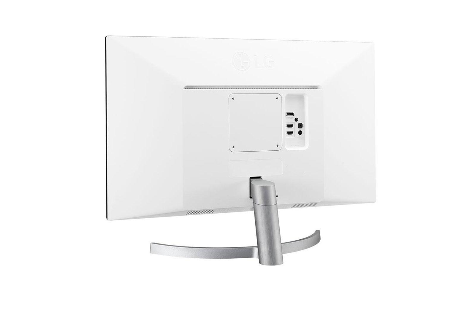 "Monitor 27"" LG 27UL600-W, 4K UHD 3840*2160, IPS, 16:9, 5 ms, 350 cd/m2, 1000:1, 178/178, anti-glare 3H, HDR 10, DisplayHDR™ 400, Flicker safe, RADEON FreeSync, 2*HDMI, DP, 60 Hz, headphone out, VESA 100*100, cabluri HDMI/ DP incluse, culoare alb+picior argintiu - imaginea 2"