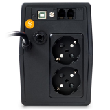 UPS nJoy Horus Plus 600, 600VA/360W, Afisaj LCD cu ecran tactil, 2 Prize Schuko cu Protectie, Repornire Automata, RJ11 protectie pentru linia de telefon/modem, Posibilitatea de monitorizare si control prin USB, LAN si internet, port de comunicare USB, rata de eficienta pana la 90% - imaginea 5