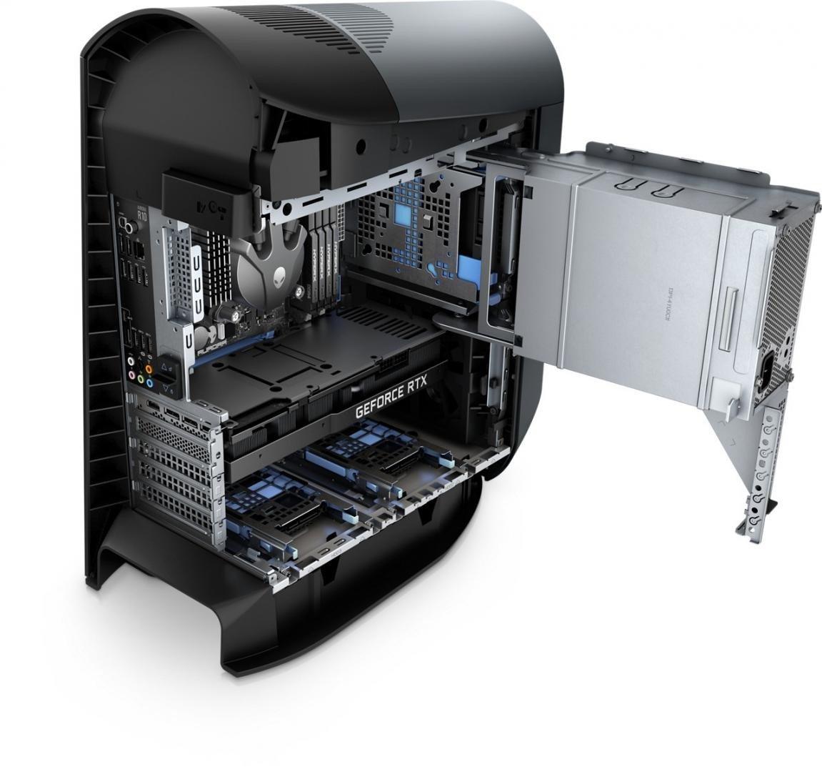 Dell Gaming Desktop Alienware Aurora R10, AMD Ryzen 9 5900X, 16GB, 256GB SSD, 1TB HDD, GeForce RTX 3080, W10 Pro - imaginea 8