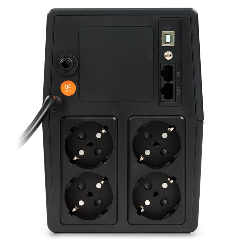 UPS nJoy Horus Plus 1000, 1000VA/600W, Afisaj LCD cu ecran tactil, 4 Prize Schuko cu Protectie, Repornire Automata, RJ11 protectie pentru linia de telefon/modem, Posibilitatea de monitorizare si control prin USB, LAN si internet, port de comunicare USB, rata de eficienta pana la 90% - imaginea 6
