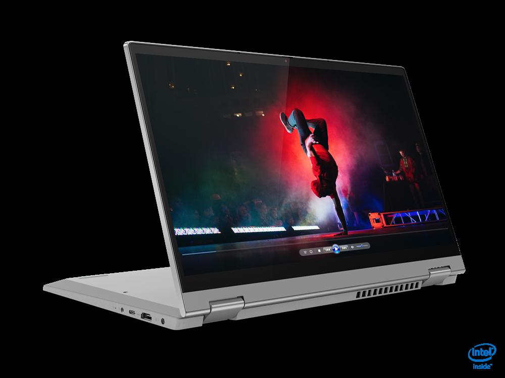 "Laptop Lenovo IdeaPad Flex 514ITL05, 14"" FHD (1920x1080) IPS 250nits Glossy, 45% NTSC, Intel Core i7-1165G7 (4C / 8T, 2.8 / 4.7GHz, 12MB), video Integrated Intel Iris Xe Graphics, RAM 16GB Soldered DDR4-3200, SSD 512GB SSD M.2 2280 PCIe 3.0x4 NVMe, no ODD, 4-in-1 Card Reader, Stereo speakers, 2W x2 - imaginea 1"