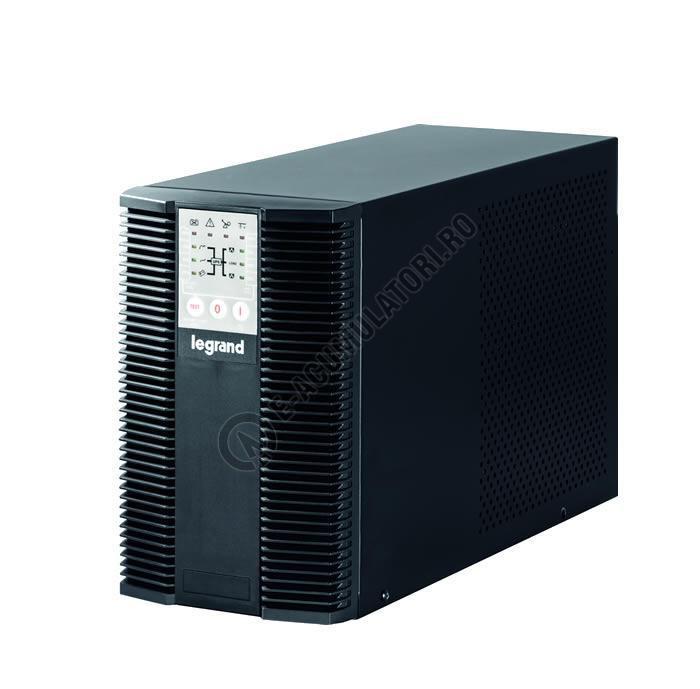 UPS Legrand KEOR LP 1000, 1000VA/ 900W, 3x IEC C13, baterie 2x 12V 7.2Ah, 230V, port USB si RS232, tip online dubla conversie, forma Tower, dimensiuni 236 x 144 x 367mm - imaginea 1