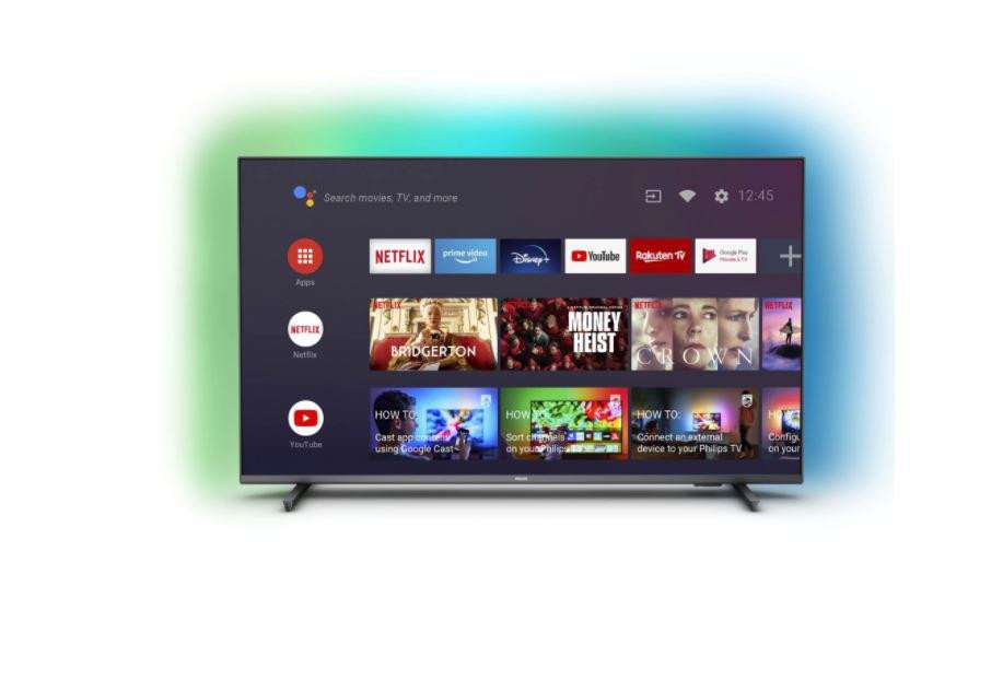 """LED TV 55"""" PHILIPS 55PUS7906/12, 139 cm, Smart, 4K Ultra HD, LED, Clasa G, HDR, Android, YouTube, Netflix, HBOGo, Screen Mirroring, Ambilight, Inregistrare USB, Asistent vocal inteligent Ready, iOS, Android, 16 GB, 3840 x 2160, HDR 10+, HLG, Dolby Vision, Dolby Vision, HDR 10+, VRR (Variable Refresh - imaginea 1"""