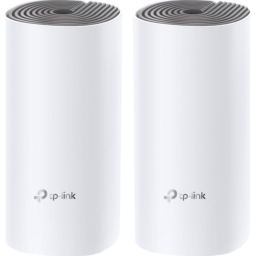 TP-Link AC1200+AV1000 Sistem Mesh Wi-Fi, DECO P9(2-PACK);  Caracteristici wireless: Standarde Wireless: IEEE 802.11 ac/n/a 5 GHz, IEEE 802.11 b/g/n 2.4 GHz; Frecvență: 2.4GHz and 5GHz; Rată de Semnal: 867Mbps at 5GHz, 300Mbps at 2.4GHz; Caracteristici Hardware: Porturi: 2* LAN/WAN Gigabit Ethernet - imaginea 1