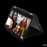 "Laptop Lenovo ThinkPad X13 Yoga Gen 2 (Intel), 13.3"" WQXGA (2560x1600) Low Power IPS 400nits AR (anti-reflection) / AS (anti-smudge), Touch, Lenovo Integrated Pen (Garaged), Intel Core i7-1165G7 (4C / 8T, 2.8 / 4.7GHz, 12MB), Video Integrated Intel Iris Xe Graphics, RAM 16GB Soldered LPDDR4x-4266 - imaginea 4"