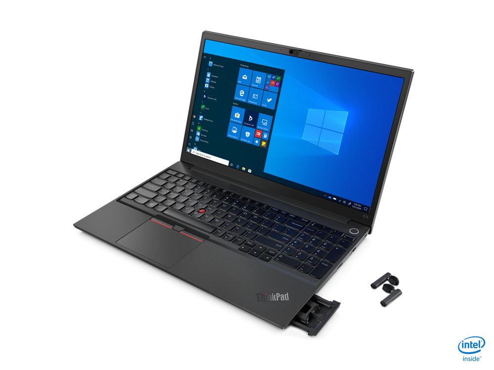 "Laptop Lenovo ThinkPad E15, 15.6"" FHD (1920x1080) WVA 250nits Anti-glare, Intel Core i5-10210U (4C / 8T, 1.6 / 4.2GHz, 6MB), videoIn tegrated Intel UHD Graphics, RAM 8GB SO-DIMM DDR4-2666, SSD 512GB SSDM.2 2242 PCIe NVMe 3.0x4, no ODD, No Card reader, 2W x 2, DolbyAdvanced Audio / dual array - imaginea 3"