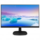 "Monitor 27"" PHILIPS 273V7QDSB, FHD 1920*1080, IPS, 16:9, 60hz, WLED, 5ms, 250 cd/m2, 178/178, 10M:1/ 1000:1, Flicker-free, Low blue light ,HDMI, VGA, DVI, VESA, Kensington lock, Black - imaginea 1"