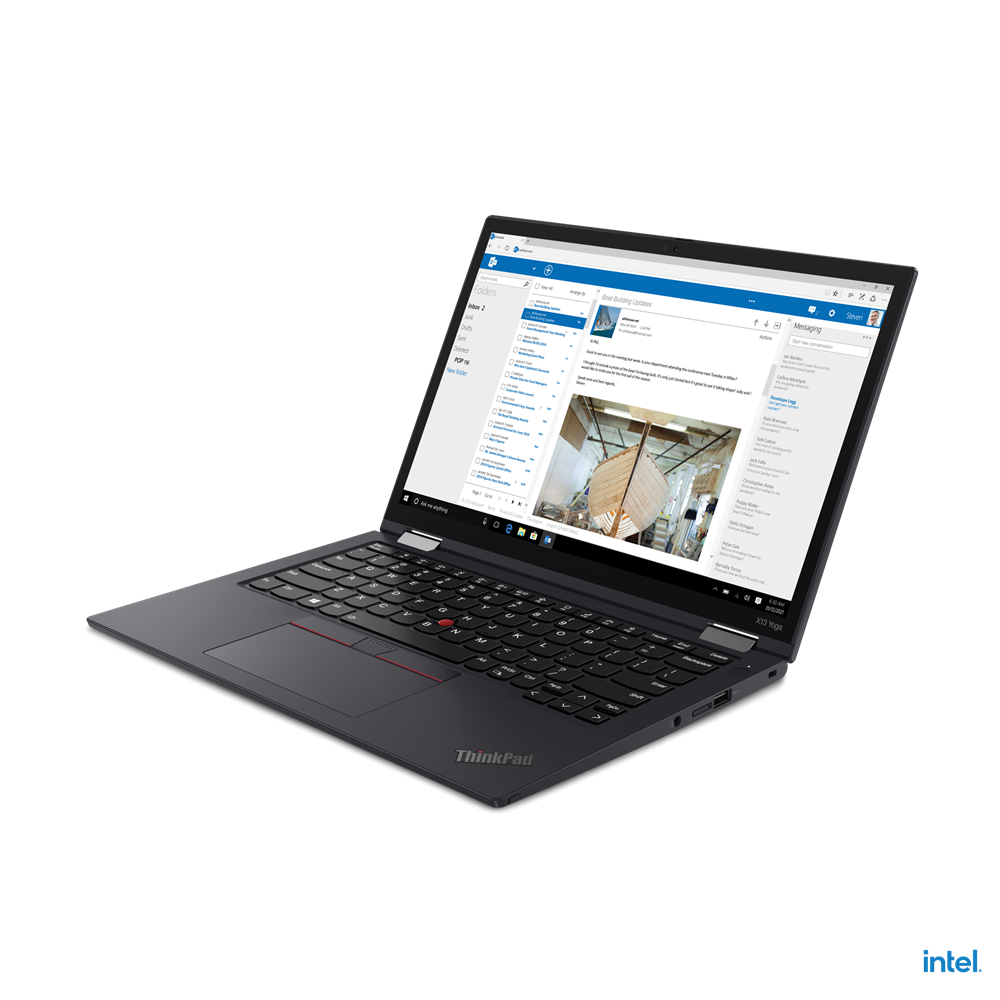 "Laptop Lenovo ThinkPad X13 Yoga Gen 2 (Intel), 13.3"" WQXGA (2560x1600) Low Power IPS 400nits AR (anti-reflection) / AS (anti-smudge), Touch, Lenovo Integrated Pen (Garaged), Intel Core i7-1165G7 (4C / 8T, 2.8 / 4.7GHz, 12MB), Video Integrated Intel Iris Xe Graphics, RAM 16GB Soldered LPDDR4x-4266 - imaginea 3"