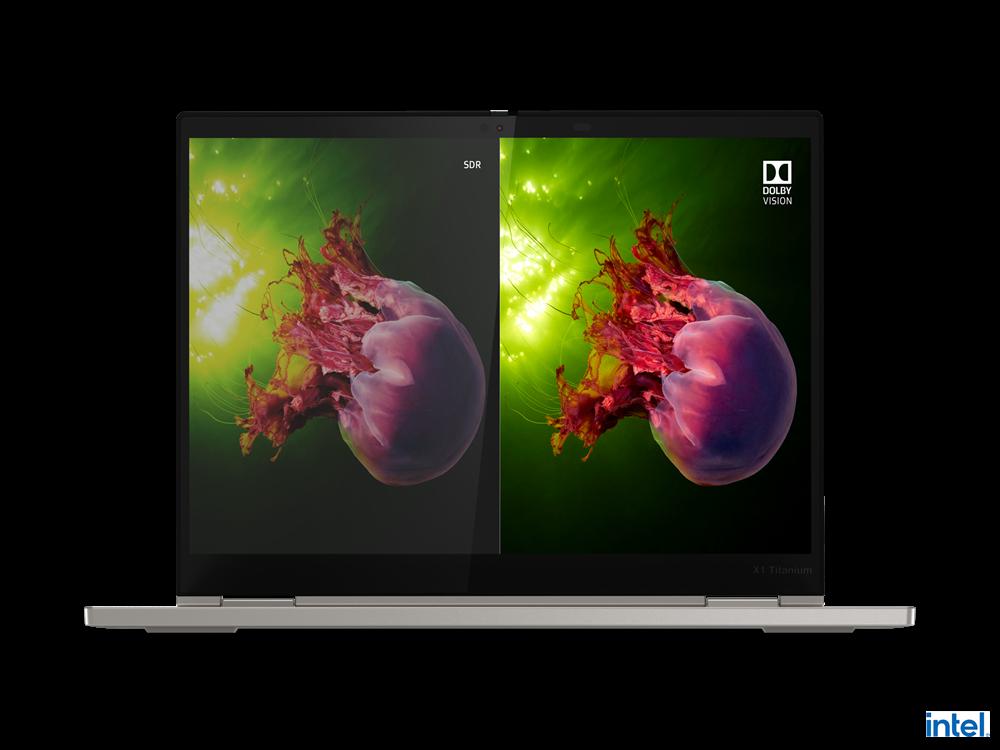 "Laptop Lenovo ThinkPad X1 Titanium Yoga Gen 1, 13.5"" QHD (2256x1504) IPS 450nits AR (anti-reflection) / AS (anti-smudge), Touch, Intel Core i7- 1160G7 (4C / 8T, 2.1 / 4.4GHz, 12MB), Video Integrated Intel Iris Xe Graphics, RAM 16GB Soldered LPDDR4x-4266, POP Memory, SSD 1TB SSD M.2 2242 PCIe 3.0x4 - imaginea 11"