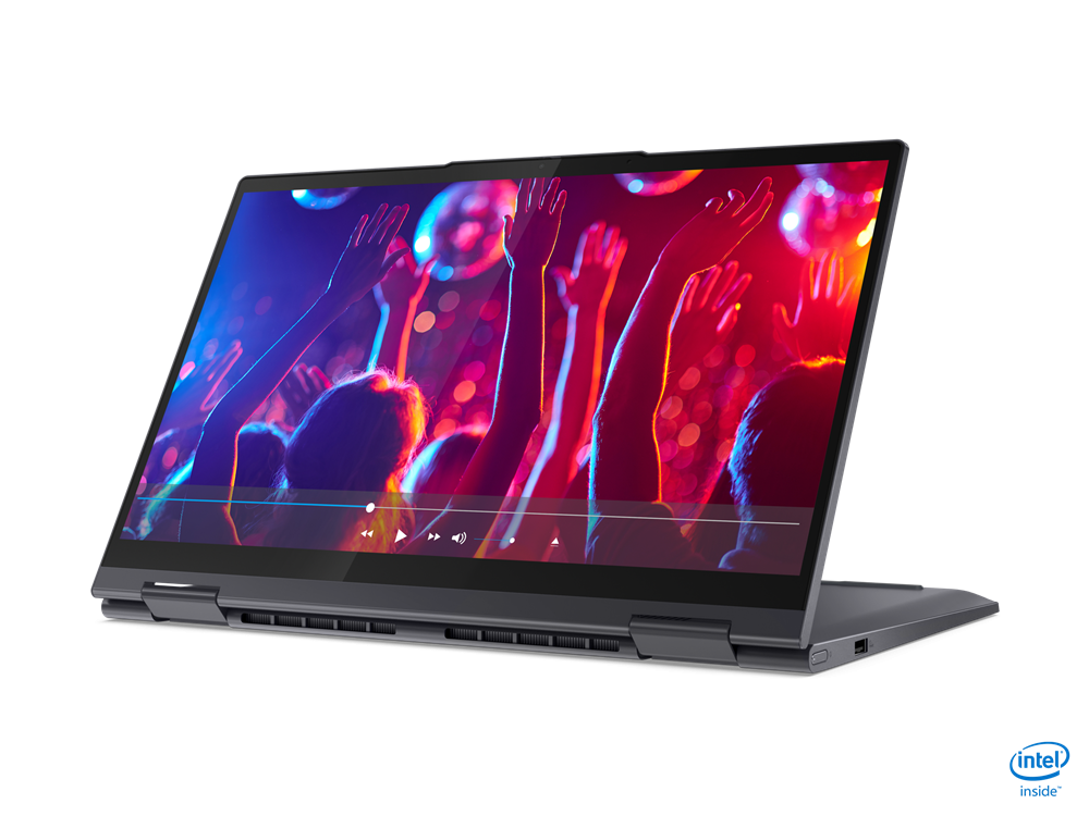 """Laptop Lenovo Yoga 7 14ITL5, 14"""" FHD (1920x1080) IPS 300nits Glossy, 72% NTSC, AGC Dragontrail glass, 10-point Multi-touch, Intel Core i5-1135G7 (4C / 8T, 2.4 / 4.2GHz, 8MB), video Integrated Intel Iris Xe Graphics, RAM 16GB Soldered DDR4-3200, SSD 1TB SSD M.2 2280 PCIe 3.0x4 NVMe, no ODD, No Card - imaginea 3"""