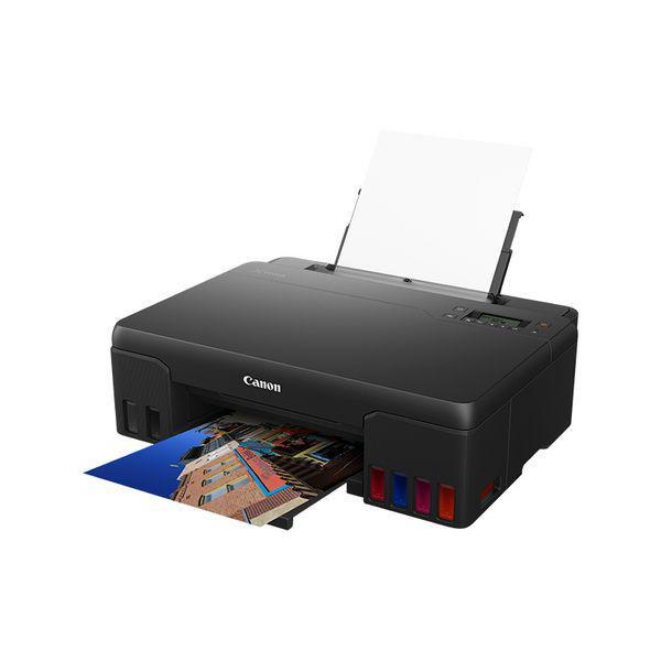 Imprimanta inkjet color CISS Canon Pixma G540, dimensiune A4, viteza 3.9 ppm alb-negru, rezolutie 4800x1200dpi, alimentare hartie 100 coli, format hartie: A4, A5,B5, interfata: USB, WIFI, consumabile:GI-43 BK, C, M, Y, R, GY. - imaginea 1