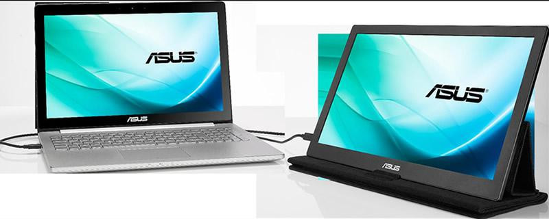 "Monitor portabil 15.6"" ASUS MB169C+, FHD 1920*1080, IPS, 16:9, WLED, 5ms, 160/160, 180 cd/m2, 100M:1 - imaginea 2"
