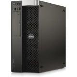 Workstation Dell Precision T3610 Tower, Intel 6 Core Xeon E5-1650 v2 3.5 GHz; 4 GB DDR3 ECC; 500 GB HDD SATA; DVDRW; Placa Video nVidia Quadro M5000, 8 GB GDDR5; Windows 10 Pro; 3 Ani Garantie, Refurbished - imaginea 1
