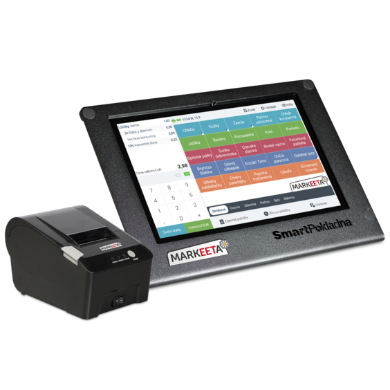 "Sistem POS SmartPokladna HLET-410, Tableta + Imprimanta Termica 58 mm , Mediatek MT6735 8 Core 1.3 Ghz, 1 GB DDR3, 5 GB eMMC, WI-FI, 3G, Bluetooth, WebCam, Display 10"" 1280 by 800 Touchscreen, Android 6.0 Marshmallow, 2 Ani Garantie - imaginea 1"