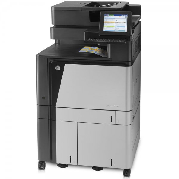 Imprimanta multifunctionala LaserJet Enterprise Color HP Flow M880 MFP, A3, 25.000 pagini/luna, 1200 x 1200 DPI, Duplex, USB, Fax, Network, TouchScreen, ADF, Scanner, Pagini printate 50.000 - 100.000 - imaginea 3