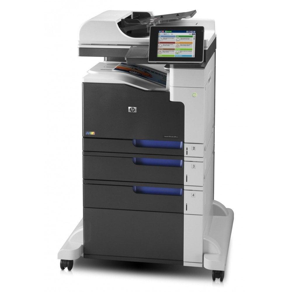Imprimanta multifunctionala LaserJet Enterprise Color HP M775 MFP, A3, 120.000 pagini/luna, 600 x 600 DPI, Duplex, USB, Fax, Network, TouchScreen, ADF, Scanner, Pagini printate 100.000-200.000, 2 Ani Garantie, Refurbished - imaginea 1