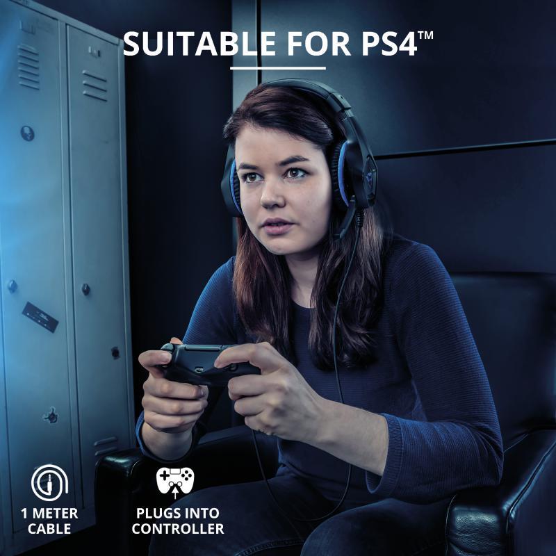 Casti cu microfon Trust GXT 404B Rana Gaming PS4, negru - imaginea 6