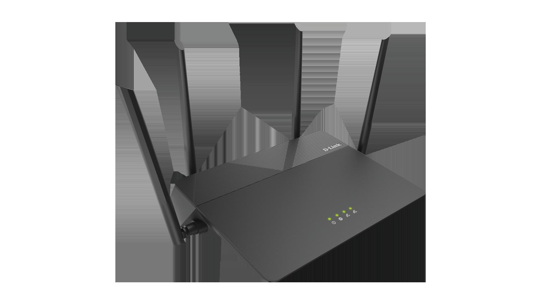 DLINK EXO AC1900 MU-MIMO WI-FI ROUTER, DIR-878, IEEE 802.11 ac/n/g/b/a wireless LAN, 10/100/1000 Gigabit Ethernet WAN port, Four 10/100/1000 Gigabit Ethernet LAN ports, 2.4 GHz: Up to 600 Mbps, 5 GHz: Up to 1,300 Mbps, Four external antennas , Input: 100 to 240 V AC, 50/60 Hz, Output: 12 V, 1.5 A - imaginea 1