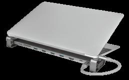 Adaptor Trust Dalyx Aluminium 10-in-1 USB-C Multi-port Dock - imaginea 15