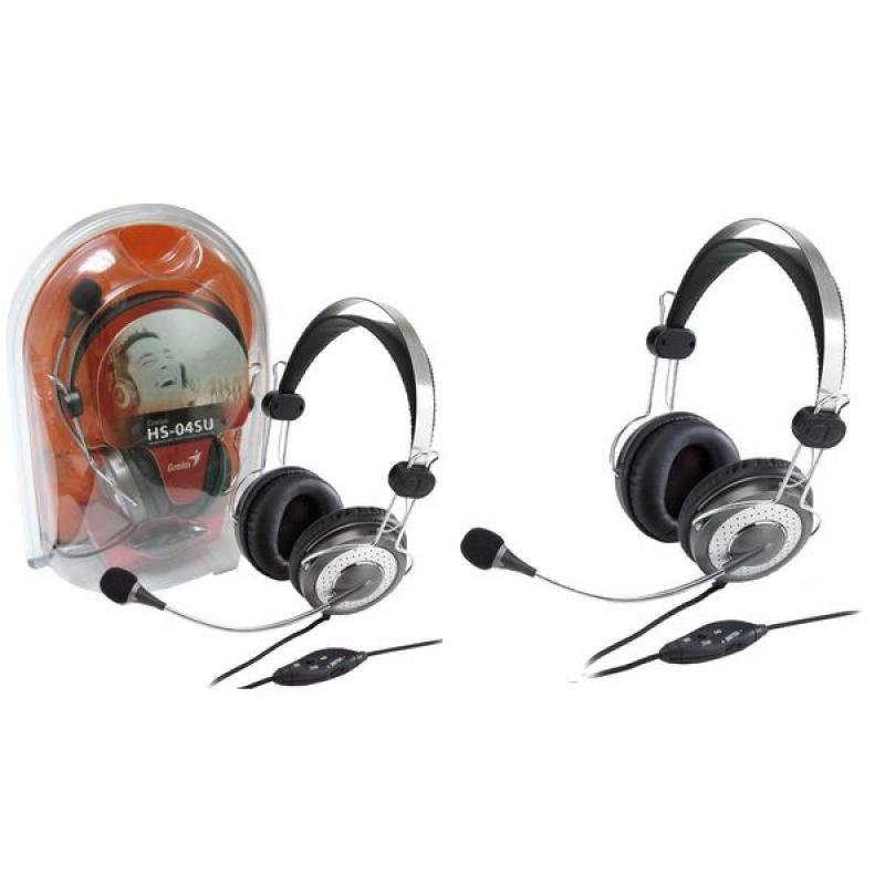 Casti cu microfon Genius HS-04SU, negru - imaginea 2