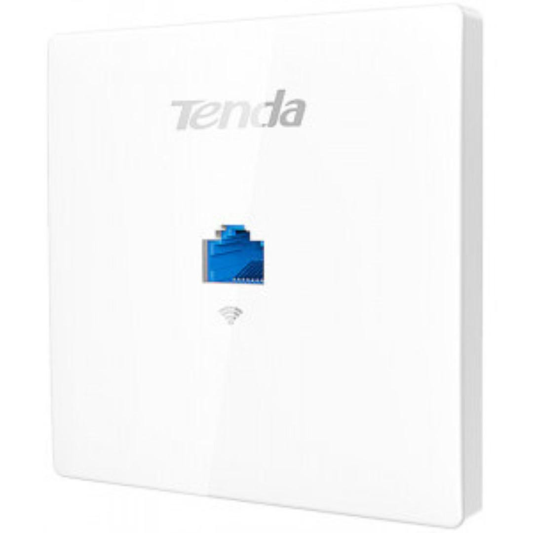 TENDA W9 WIRELESS 1200MBPS ACCESS POINT, in-wall AP, 2.4GHz & 5GHz dual band, 1*10/100Mbps PoE+Data Input LAN, 1*10/100Mbps Data Output LAN, PoE 802.3af. - imaginea 1