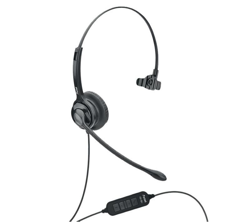 Casti cu microfon Axtel MS2 mono NC USB, DSP, AGC, negru - imaginea 1