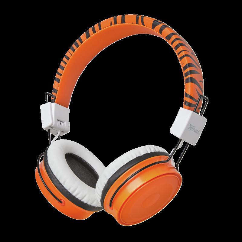Casti cu microfon Trust Comi Bluetooth Wireless Kids Headphones Orange - imaginea 5