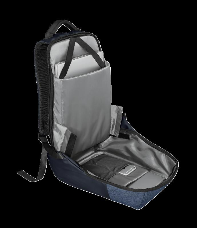 "Rucsac Trust Nox Anti-theft Backpack 16"" Blue - imaginea 6"