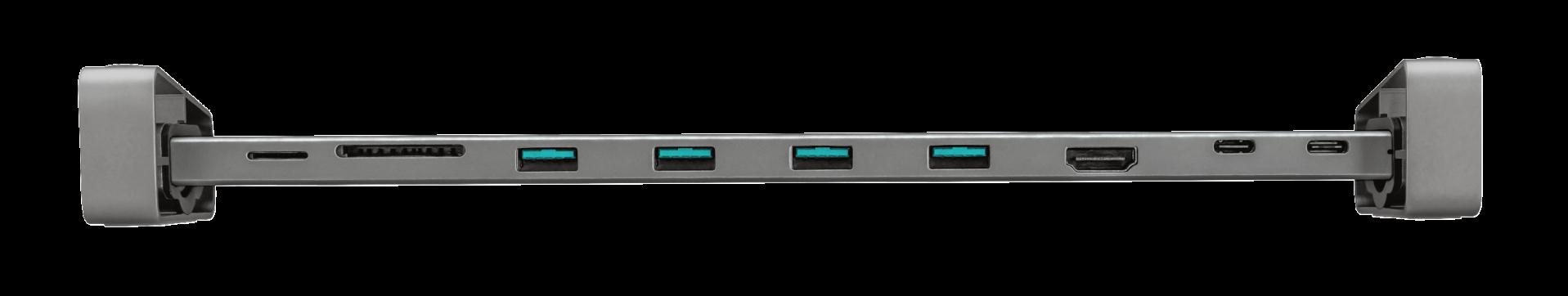 Adaptor Trust Dalyx Aluminium 10-in-1 USB-C Multi-port Dock - imaginea 4