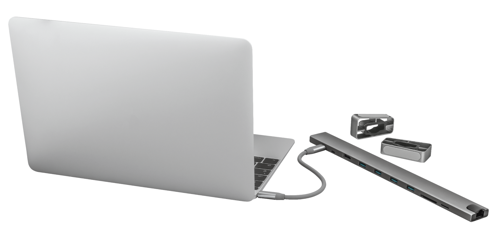 Adaptor Trust Dalyx Aluminium 10-in-1 USB-C Multi-port Dock - imaginea 3