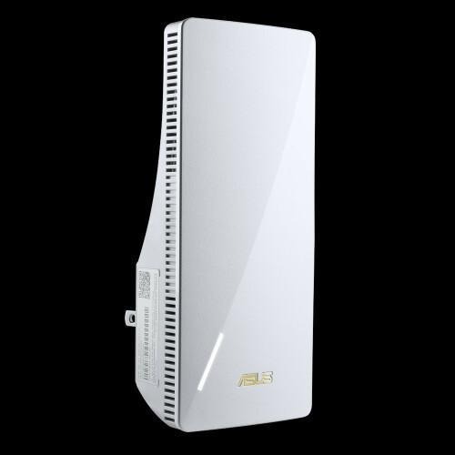 Asus RP-AX56, AX1800 Dual Band WiFi 6 (802.11ax) Range Extender / AiMesh Extender, network standard: IEEE 802.11a, IEEE 802.11b, IEEE 802.11g, WiFi 4 (802.11n), WiFi 5 (802.11ac), WiFi 6 (802.11ax, IPv4, IPv6, AX1800 ultimate AX performance : 574+1201 Mbps, Internal antenna x 2, Transmit/Receive - imaginea 1