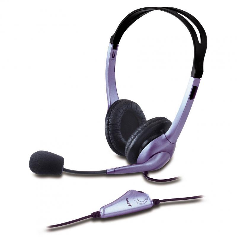 Casti cu microfon Genius HS-04S, negru - imaginea 1