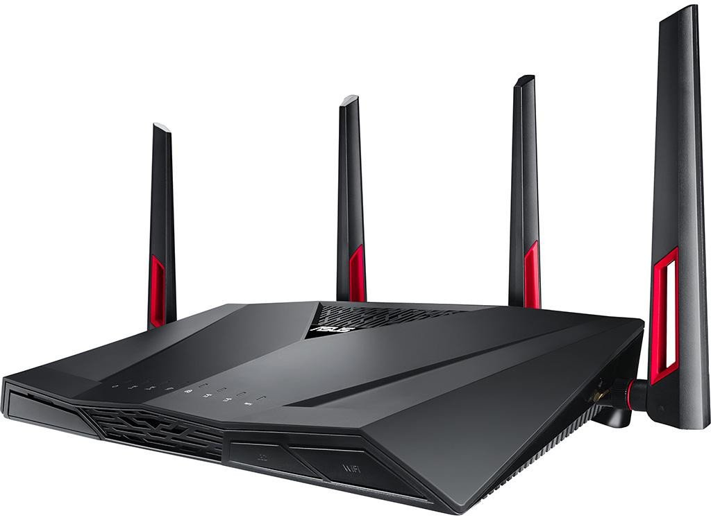 Router Wireless Asus DSL-AC88U, network standard: IEEE 802.11a, IEEE 802.11b, IEEE 802.11g, WiFi 4 (802.11n), WiFi 5 (802.11ac), IPv4, IPv6, AC3100 ultimate AC performance : 1000+2167 Mbps, Detachable antenna x 4, Operating Frequency: 2.4GHz / 5GHz, 1 x RJ11 for xDSL, 4 x RJ45 10/100/1000/Gigabits - imaginea 1